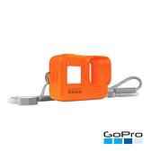 GoPro-HERO8 Black專用矽膠護套+繫繩 熔岩橘(AJSST-004)