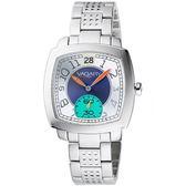 VAGARY 活力摩登酒桶型個性腕錶(銀)