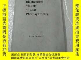 二手書博民逛書店Biochemical罕見Models of Leaf Phot