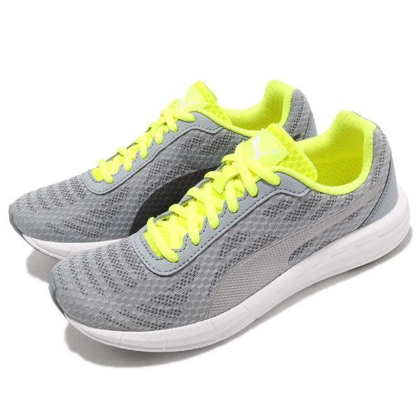 【六折特賣】Puma 慢跑鞋 Meteor Wns 灰 黃 白底 基本款 運動鞋 女鞋【PUMP306】 18905910