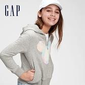 Gap女童 Gap x Disney 迪士尼系列連帽上衣 672352-淺灰色