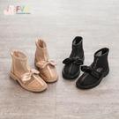 女童鞋子2021年夏季新款兒童馬丁短皮靴春夏透氣網靴洋氣春季單靴 一米陽光