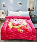 【名流寢飾家居館】佩佩豬.粉紅豬小妹.夏日水果. 法萊絨.暖暖被