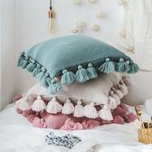 抱枕 公主風靠墊套沙發裝飾毛線抱枕  igo