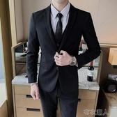 西裝男 西服套裝男士外套上衣青年韓版修身商務休閑職業正裝秋季小西裝男 布衣潮人