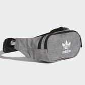L-adidas ESSENTIAL CROSSBODY 側背包 腰包 休閒 潮流 灰 DV2403