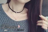 項鍊 現貨韓國氣質甜美百搭簡約極緻皮質雙層鋯石項鍊 頸鍊 K2443 單條價 Danica 韓系飾品