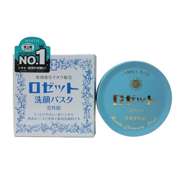 日本製/日本ROSETTE溫泉柔嫩調理洗顏霜 90g//溫泉泥細緻粉末調理肌膚紋路洗後柔嫩有彈性