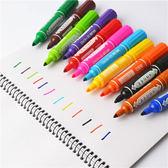 880記號筆12 24 36色大雙頭彩色記號油性筆馬克筆麥克筆POP筆【極有家】