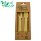 【Natural Made】 環保玉米餐具組 - 湯匙14x3x2cm + 叉子14x2.4x1cm