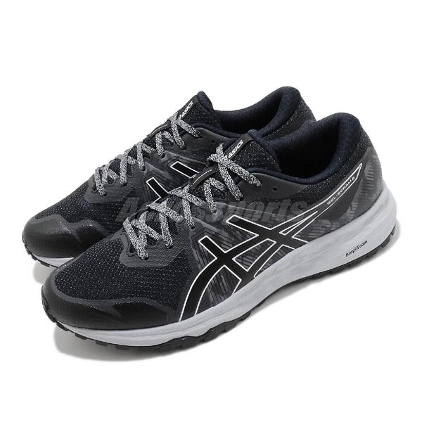Asics 慢跑鞋 Gel-Scram 6 黑 灰 男鞋 野跑 亞瑟膠 運動鞋 【ACS】 1011A850020