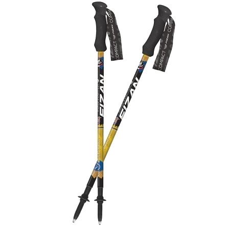 [好也戶外] FIZAN 超輕三節式健行登山杖2入特惠組/金翼白眉 No.FZS20.7102.FLS