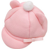 San-X 角落生物 沙包玩偶造型配件 換裝衣服配件 家家酒玩具 報童帽 粉_XS70714