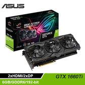 【ASUS 華碩】STRIX-GTX1660TI-O6G-GAMING 顯示卡