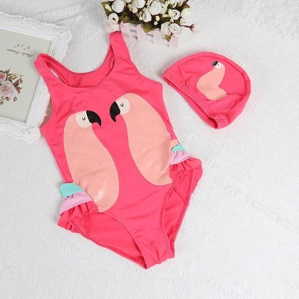 兒童泳裝 寶寶連體三角褲帶帽套裝韓版舒適小童游泳泳衣兒童