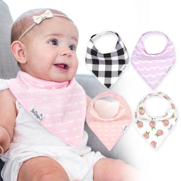 圍兜 口水巾 領巾 Copper Pearl 圍兜4件組-玫瑰格紋 X00144O2JR Rosie Set