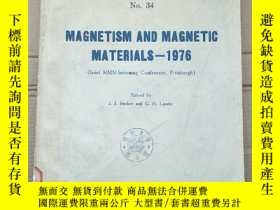 二手書博民逛書店magnetism罕見and magnetic materials 1976(P2685)Y173412