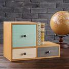 ‧ 雲杉木天然紋理,搭配不同顏色,呈現多層次美感 ‧ 三抽及L側邊設計,展現多用途收納空間