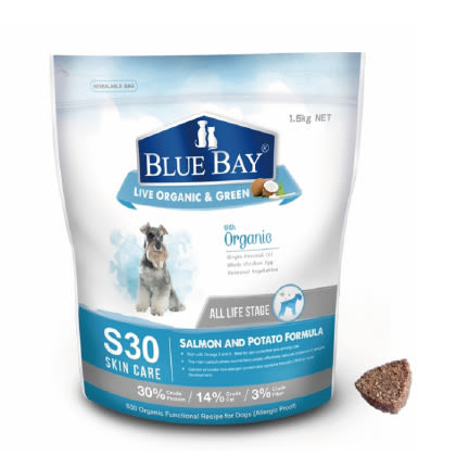 狗寶飼料 - 倍力S30有機保健飼料1.5kg - 鮭魚+馬鈴薯=抗過敏全犬種配方