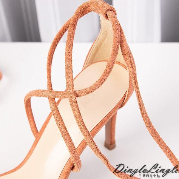 Dingle丁果ღ 羅馬綁帶細跟涼鞋