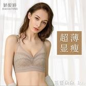 內衣 哺乳內衣女超薄顯小孕婦文胸無鋼圈懷孕期純棉防下垂喂奶胸罩薄款 鹿角巷