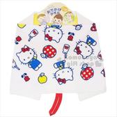〔小禮堂〕Hello Kitty 純棉兒童擦手巾《白.蘋果.牛奶瓶》擦嘴巾 4992272-62295