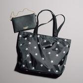 《花花創意会社》黑色皮革收納包&星星環保托特袋【H5416】