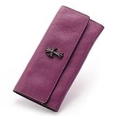 皮夾(長夾)-十字架歐美時尚荔枝紋兩折女零錢包3色73eb71[時尚巴黎]