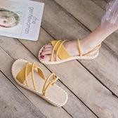 夏季涼鞋女INS潮仙女風配裙子軟妹原宿風平底溫柔鞋網紅羅馬鞋子 後街五號