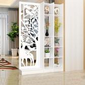屏風 鏤空雕花屏風隔斷客廳裝飾簡約現代小戶型臥室白色折疊玄關門廳柜【82折下殺】