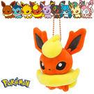 火伊布 火精靈 娃娃吊飾 玩偶 Q版 Pokemon 寶可夢 神奇寶貝 日本正品 該該貝比日本精品 ☆