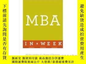 二手書博民逛書店MBA罕見in a Week-一周內獲得工商管理碩士學位Y465786 Alan Finn Teach You
