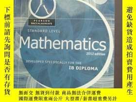 二手書博民逛書店Mathematics,罕見Standard Level, for the IB Diploma (Student
