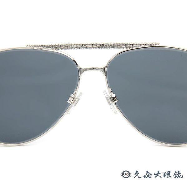 CHANEL 香奈兒 太陽眼鏡 4231 (銀) 飛官款 斜紋軟呢 淺水銀 墨鏡 久必大眼鏡