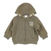 ~愛的世界~純棉小浣熊兩面穿長袖連帽外套6 12 歲 製 外套