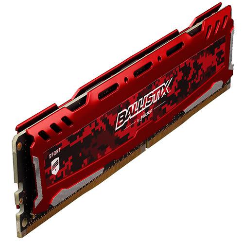 Micron Ballistix Sport LT 競技版 DDR4 3200/16GB (8GB*2) RAM 超頻記憶體 紅色散熱片 BLS2K8G4D32AESEK