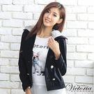 ◆ 商品貨號:V35051-13  ◆ 雙排扣設計,帽子採用不同色系展顯層次感◆【商品只退不換】