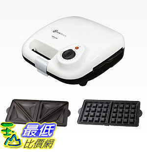 [104東京直購] TESCOM HSM520-W 白色 鬆餅機 三明治機 (附兩種烤盤)