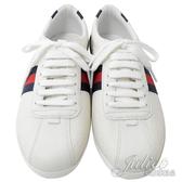 茱麗葉精品【全新現貨】GUCCI 408496 藍紅藍條紋雙G LOGO運動板鞋