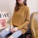 新品上市# 高領毛衣女秋冬新品寬松百搭套頭加厚長袖韓版純色針織打底衫