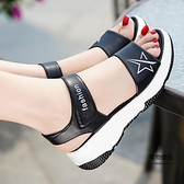 沙灘鞋女鞋真皮平底涼鞋女夏軟底運動涼鞋【聚物優品】