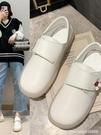 護士鞋 不累腳護士鞋春秋季新款平底防滑厚軟底棉鞋舒適魔術貼小白鞋 星河光年