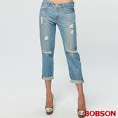 BOBSON 女款男朋友反摺褲(169-08)