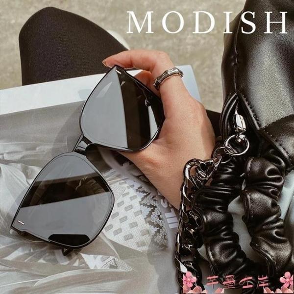 墨鏡gm墨鏡2021新款潮高級同款太陽眼鏡女網紅街拍方形大臉顯瘦 芊墨左岸