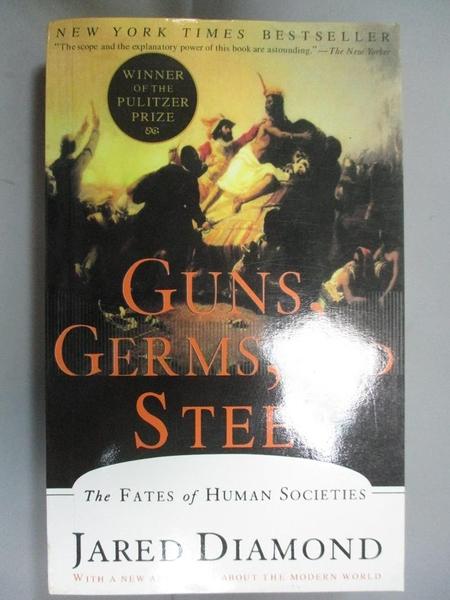 【書寶二手書T1/社會_MHX】Guns, Germs, and Steel: The Fates of Human..._Jared M. Diamond