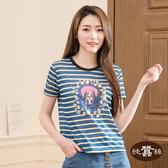 【岱妮蠶絲】魔鏡裡的寶石女孩圓領蠶絲短袖T恤