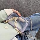 果凍透明小包包新款潮洋氣夏斜背包包女包ins超火錬條單肩包【全館免運】