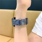 適用iwatch錶帶皮質蛇紋apple watch1/2/3/4代蘋果【橘社小鎮】