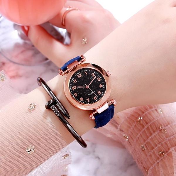 手錶韓版簡約手錶女士學生ins原宿風星空網紅抖音同款學院風防水潮流 衣間迷你屋