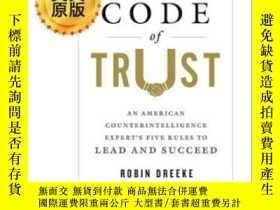 二手書博民逛書店信託守則罕見英文原版 The Code of Trust 美國反